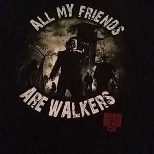 Walking Dead shirt 2XL All my friends are walkers